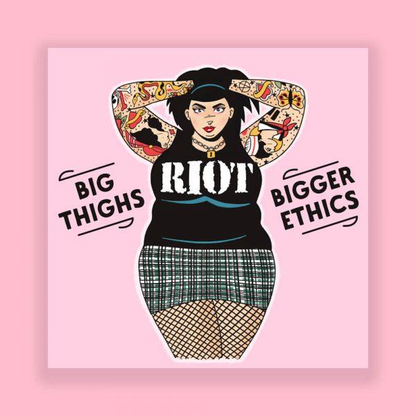 Big Thighs Punk Print by HECreative