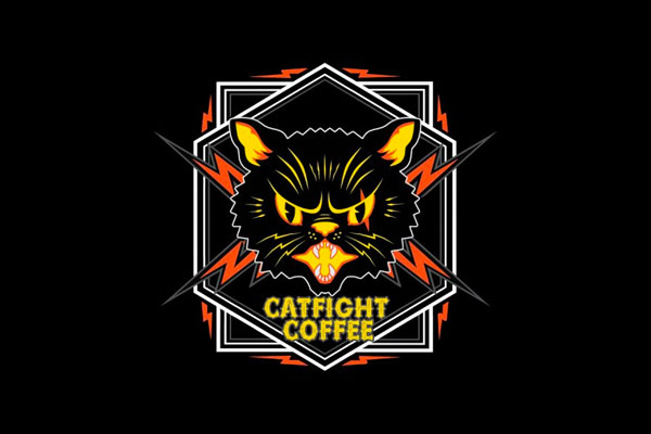 Illustration for Catfight Coffee by HECreative