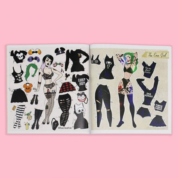 Doll Parts Punk Paper Dolls by HECreative