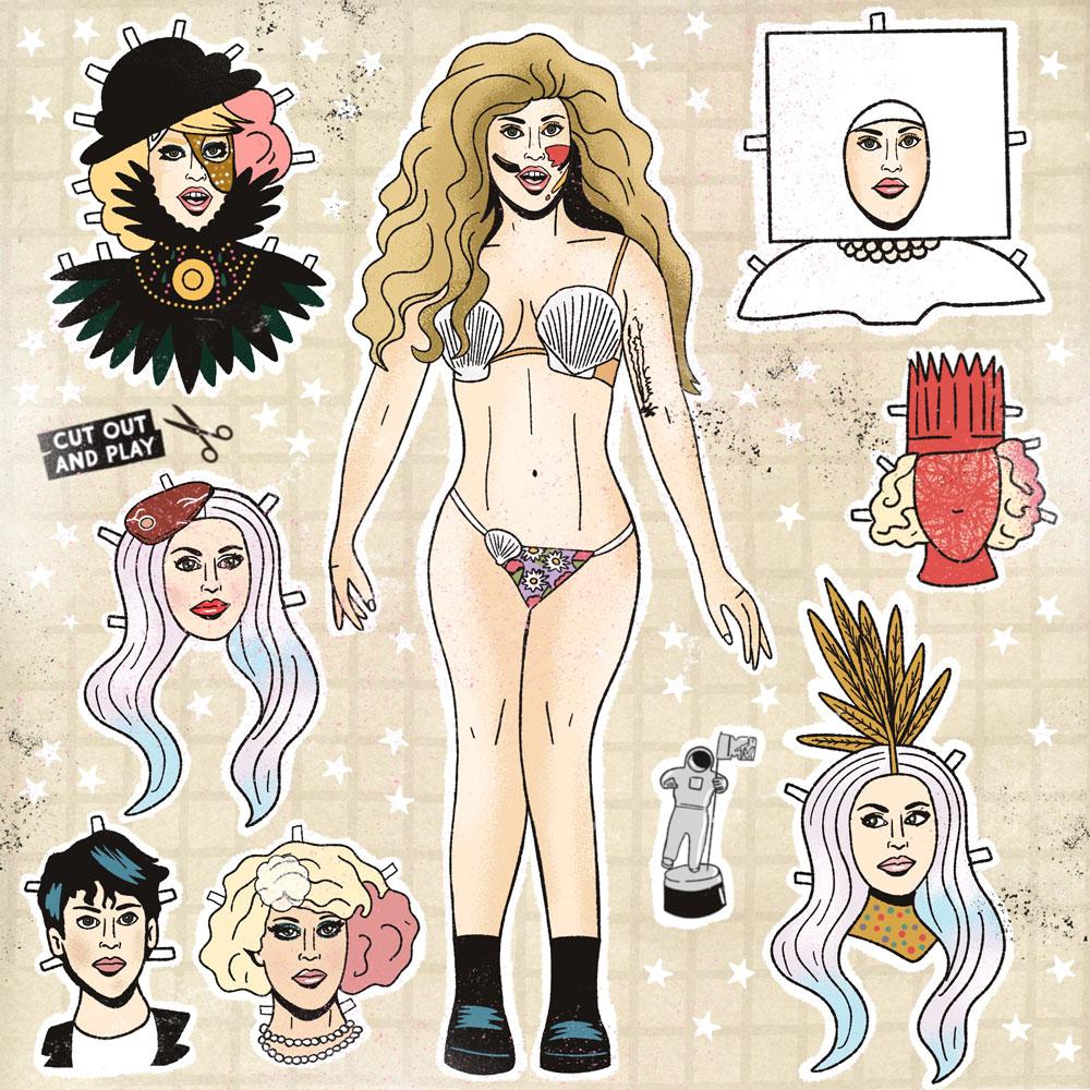MTXxHECreative - Paper Doll Illustration for MTV by HECreative