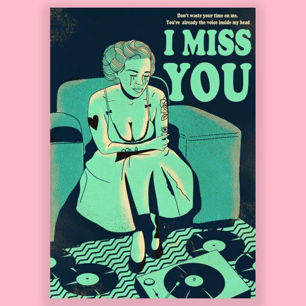 I Miss You Print by HECreative