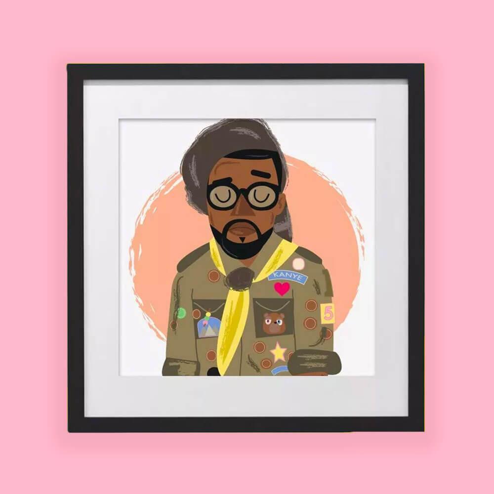 Illustration for Kanye West by HECreative