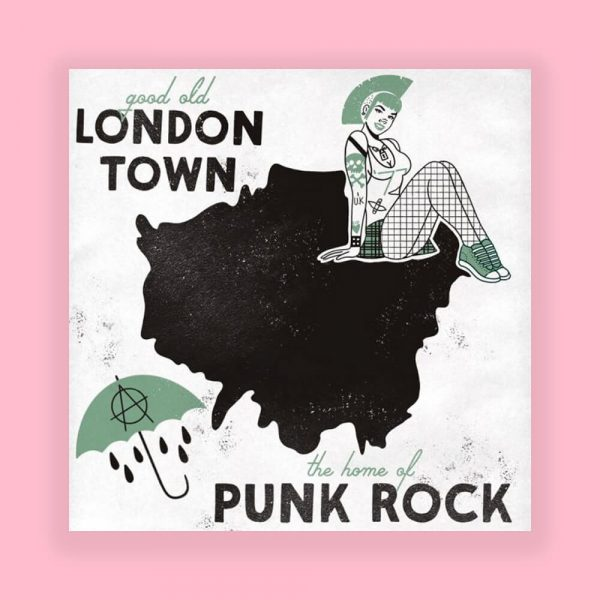 London Home of Punk Print by HECreative