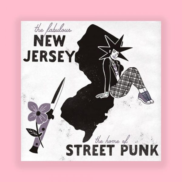 New Jersey Home of Punk Print by HECreative