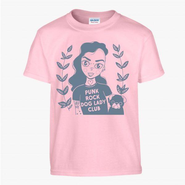 Punk Rock Dog Lady T-Shirt by HECreative
