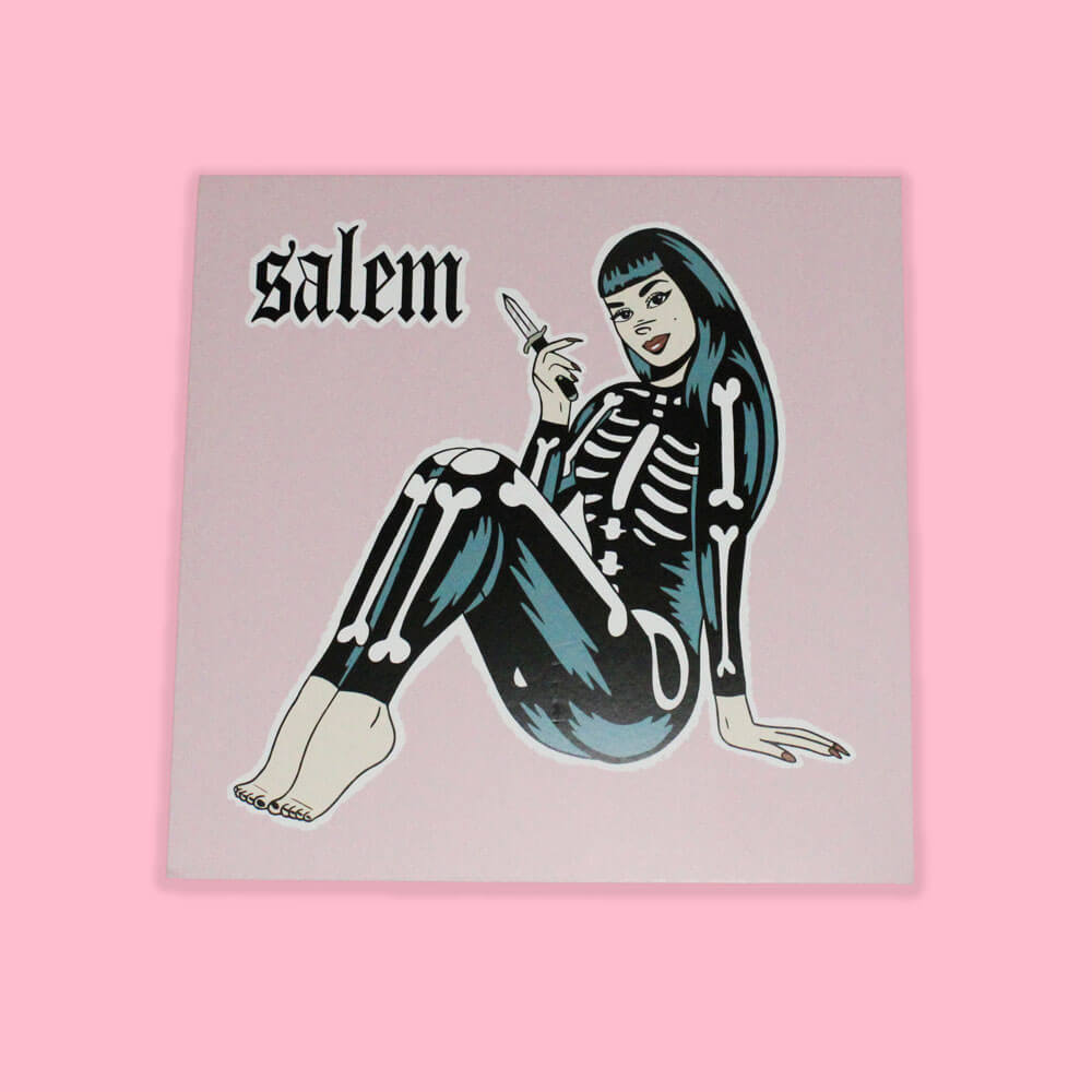 Record Cover Illustration for Salem by HECreative