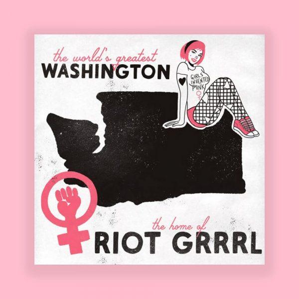 Washington Home of Punk Print by HECreative