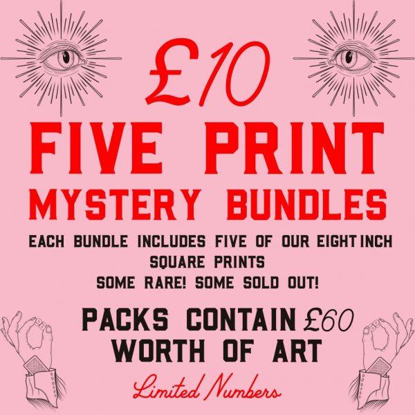 Five Print Mystery Bundle by HECreative